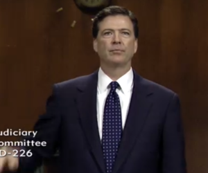 FBI director nominee James Comey (Credit: Senate Judiciary Committee hearing)