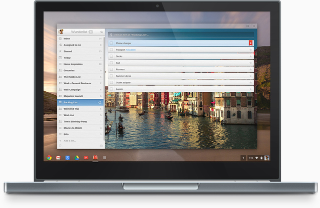 Wunderlist Chrome