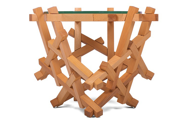 burr puzzle table