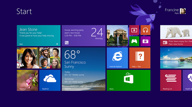 Windows 8.1 Start Screen (Embargo)