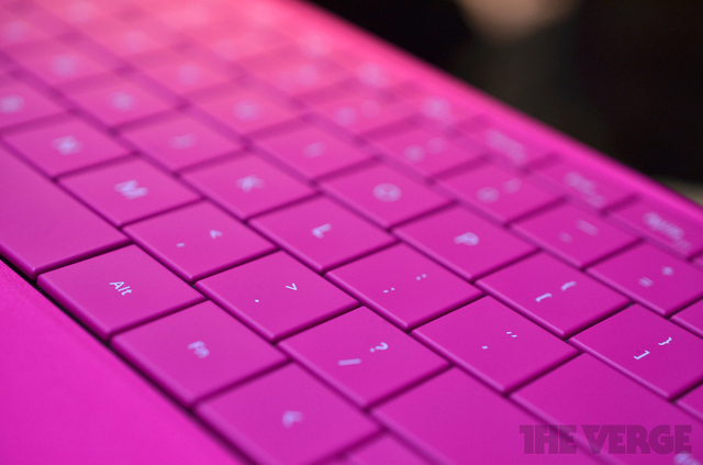 Gallery Photo: Surface 2 touch and type cover hands on photos
