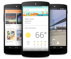 Nexus 5 Google Now KitKat PRESS