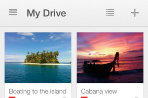 Google Drive iOS screenshot