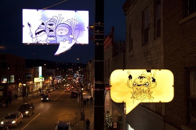 Street lamps transform