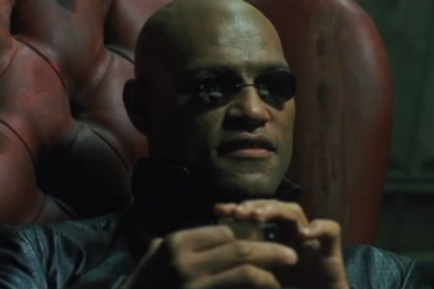 Morpheus jacks into the Matrix