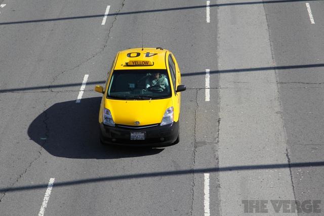 SF taxi Toyota Prius hybrid street car cab stock 1024