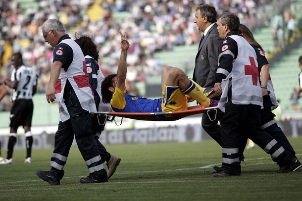 Carrying him out on a stretcher is one of the few options we have left...