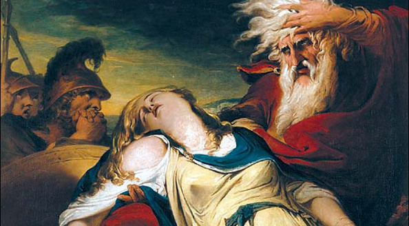 Barry's King Lear Weeping Over the Death of Cordelia, 1774