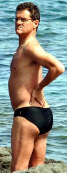 fabio capello bathing suit beach england