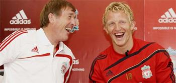 Kenny Dalglish and Dirk Kuyt