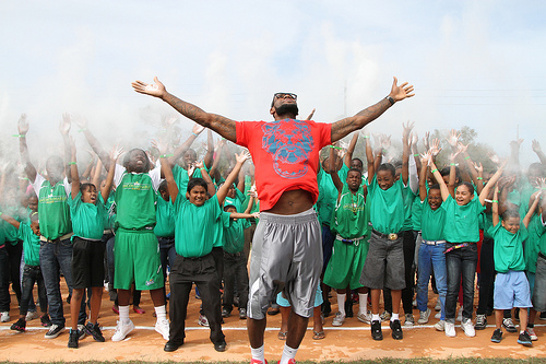 LeBron chalk Boys Girls Club