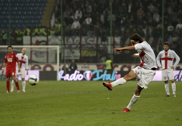 What a free kick - over 100 km per hour.