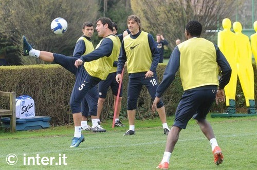 Training before the Udinese match