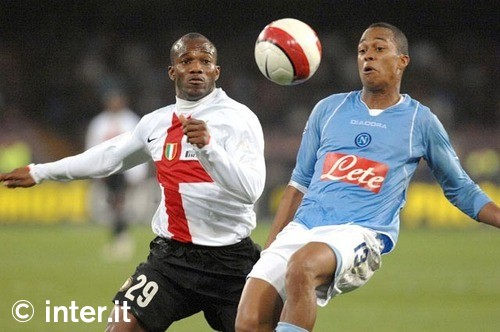 Suazo battles for the ball in last year\'s tie