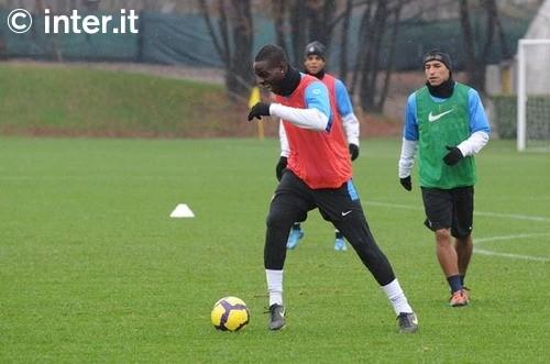 Balotelli training before the Juve match