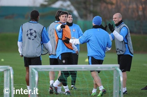 Zanetti before the Rubin CL game in Milan