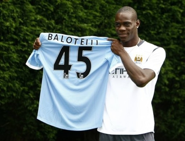 Mario Balotelli now plays for Manchester city and