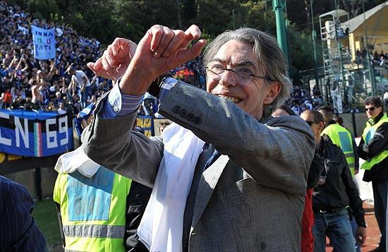 Massimo Moratti fa le manette