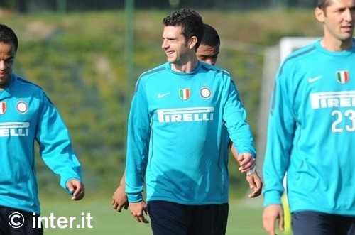 Thiaggo Motta back in training