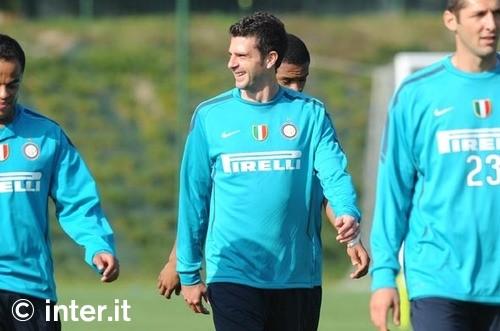 Thiaggo Motta back in training
