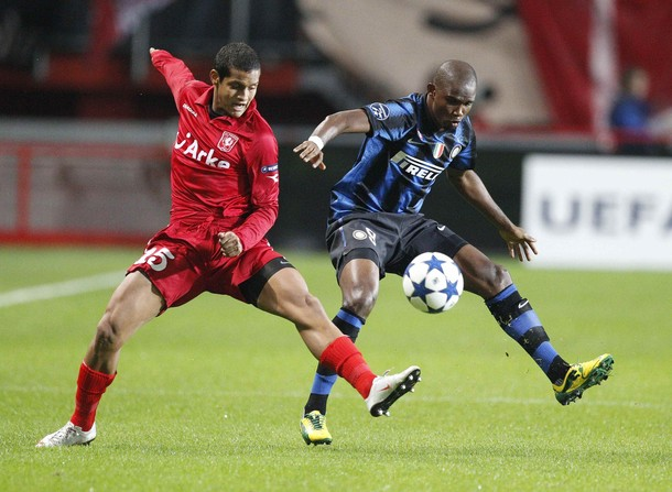 Eto'o against Twente
