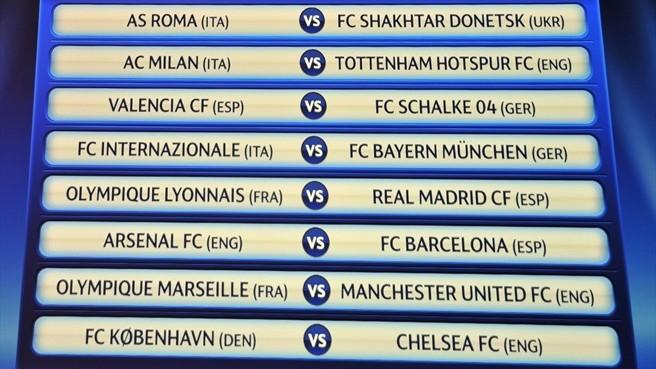 UCL round 16 draw