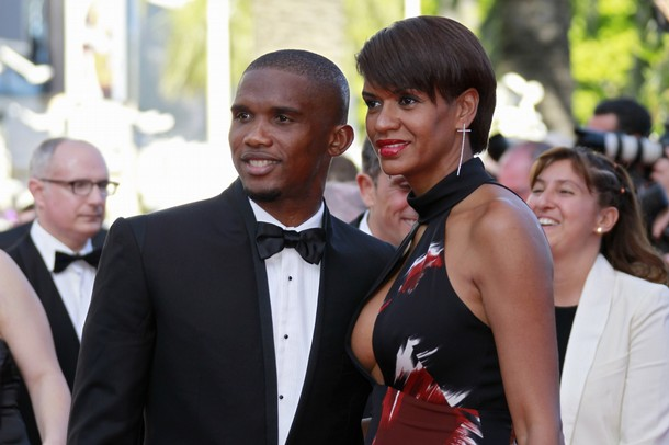 Samuel and Georgette Eto'o in Cannes