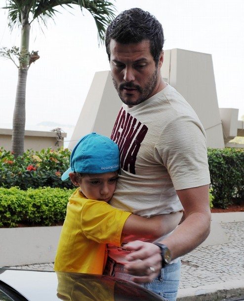 Julio Cesar and son in Brazil