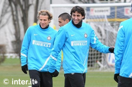 Milito and forlan