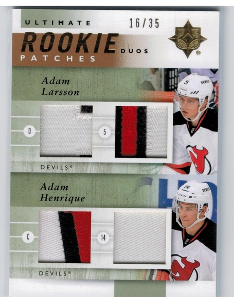 Henrique and Larsson appearing together on the first of hopefully many more exciting trading cards in their careers
