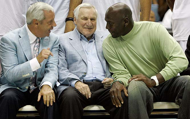Dean Smith Roy Williams Michael Jordan