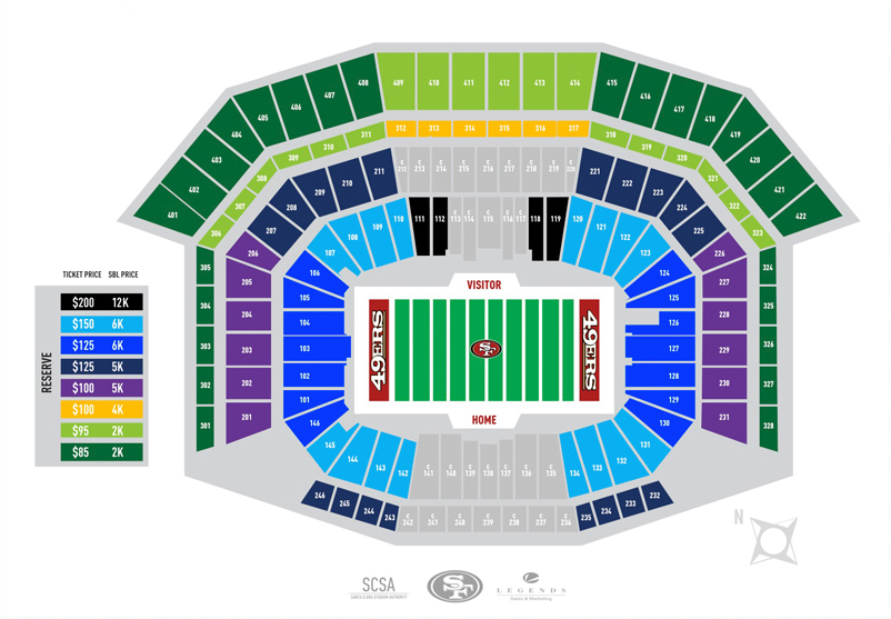 49ers new stadium general public seating now on sale niners nation