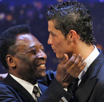 Pele, left, and Cristiano Ronaldo