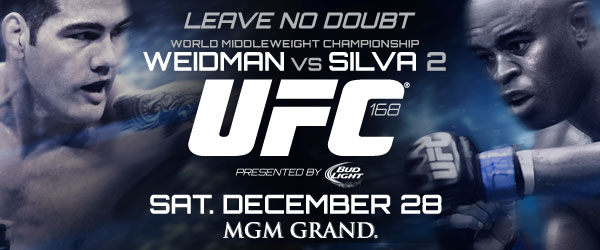 Pic  UFC 168 poster first-look for  Weidman vs  Silva 2  PPV on Dec    Ufc 168 Poster