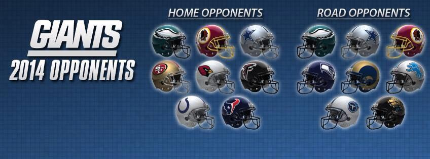 New York Giants 2014 Schedule Opponents Known Big Blue