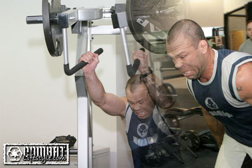 Wanderlei Silva training