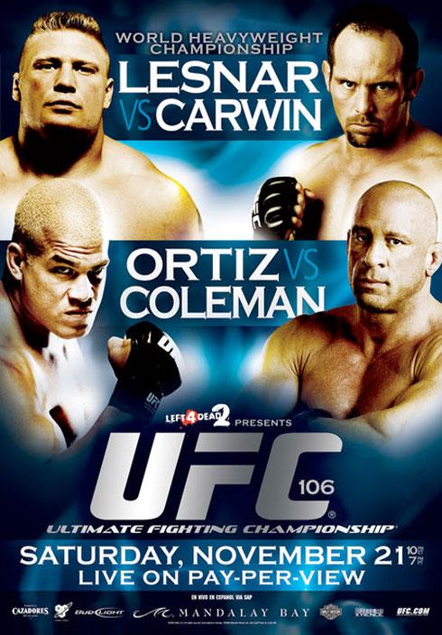 UFC 106 poster for 'Lesnar vs ...
