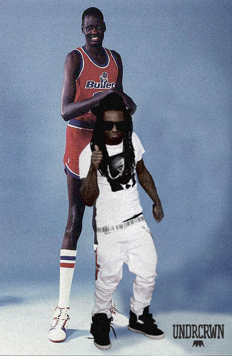 It's A Picture Of Manute Bol And Lil Wayne. - SBNation.com