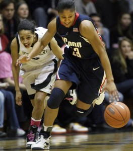 Maya Moore will not have to try nearly this hard against Seton Hall this afternoon.