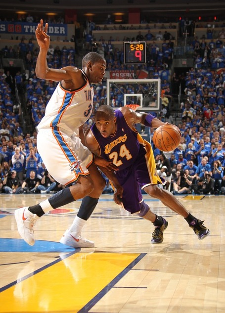kevin durant dunks on kobe. + Kevin Durant  Kobe Killer?