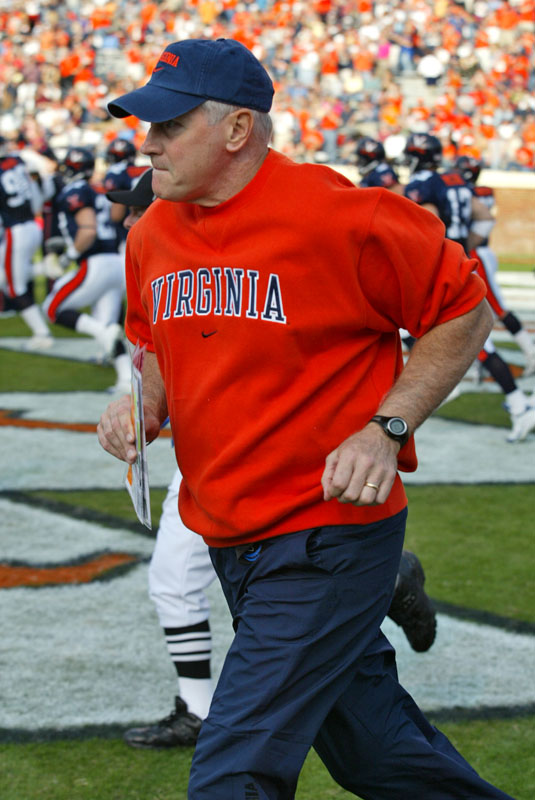 Virginia Head Coach Al Groh, courtesy TheSabre.com