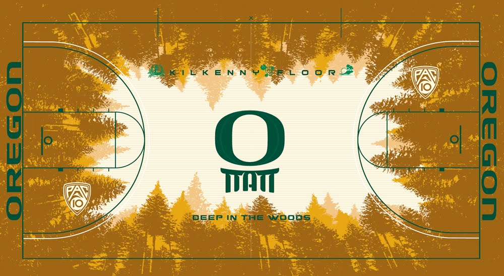 Oregon's new basketball court