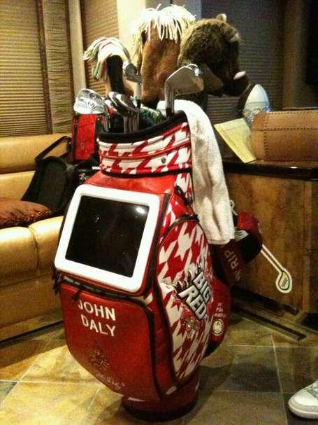 Photo John Daly S Bag Has Built In Tv Makes Al Czervik