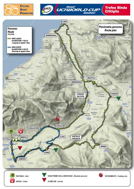 Trofeo Alfredo Binda 2011 Map