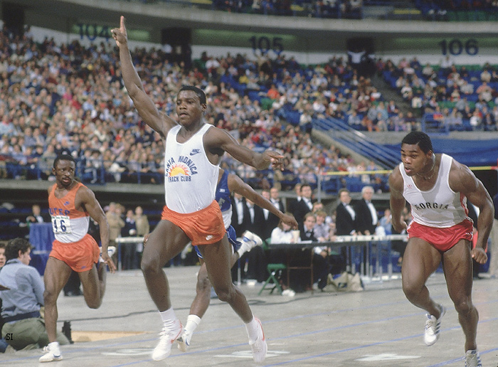 Photo Carl Lewis Edges Herschel Walker In 1983 Track Meet