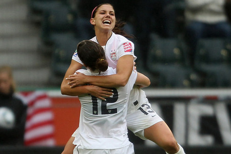 Alex Morgan vs. France, US Women's National soccer team