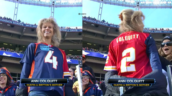 PHOTO: Britton Colquitt's Mother Wears Broncos-Chiefs Jersey - SB ...