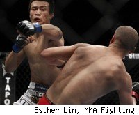 Korean Zombie knocks out Mark Hominick at UFC 140.