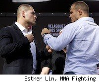 Cain Velasquez and Junior dos Santos