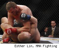 Josh Barnett beats Sergei Kharitonov at Strikeforce in Cincinnati.